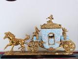 厂家直销欧美式创意陶瓷配铜家居饰品样板房软装摆件高档工艺品