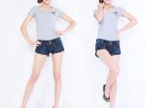 2014新款欧美低腰热裤 夏款加大码牛仔裤