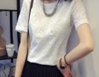韩版时尚夏季新款圆领宽松显瘦大码短袖 女装潮流女夏装上衣潮衣