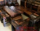 白银实木家具办公桌茶桌椅子老船木客厅家具沙发茶几茶台餐桌案台