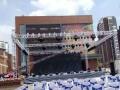 年会策划布置,背板舞台搭建,灯光音响led大屏出租