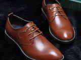 香港红蜻蜓正装皮鞋男士英伦潮流尖头皮鞋真皮低帮男鞋一件代发