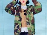 户外绿迷彩 军绿冲锋衣工装外套男女同款