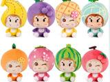 正版悠嘻猴水果乐园公仔毛绒玩具偶创意可爱的洋娃娃布娃娃女孩