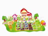 热销QQ农场DIY益智拼图玩具模型 优质3D立体拼图模型批发