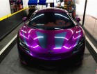 彩焱全车装贴超亮葡萄紫迈凯伦汽车改色贴膜隐形车衣