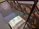 佛山铝雕红古铜装饰楼梯扶手 铝艺雕花楼梯护栏定制