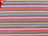 多彩提花服装布料 民族风围巾女装专用梭织民族布 条纹色织棉布
