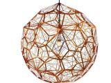 北欧工业风不锈钢球形客厅会所别墅吊灯