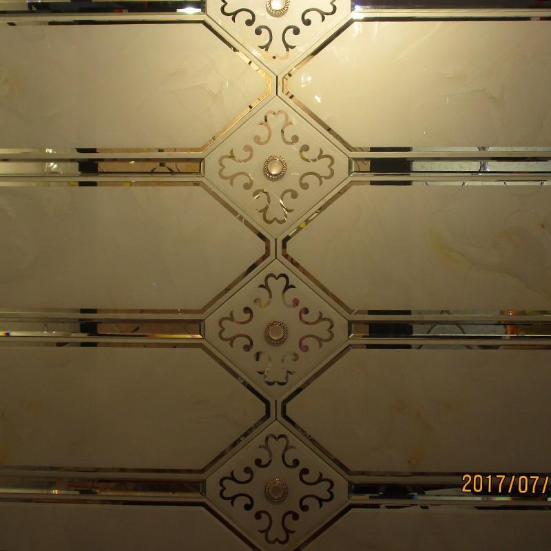 定制菱形超白银镜 彩釉餐厅影视电视背景墙拼镜