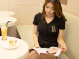 2014新款女装 韩版修身V领短袖t恤女 女t恤