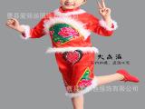 十一元旦儿童中国结秧歌演出服饰幼儿红灯笼舞蹈表演服女喜庆服装