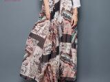 言吾2015春装夏季新款女装复古印花真丝半身裙高端大牌桑蚕丝长裙