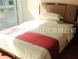 全棉贡缎提花被套床单 星级酒店白色布草宾馆床上用品四件套