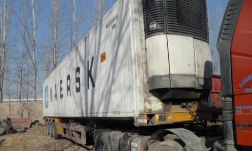 山东出售二手15米冷藏箱运输半挂车 包提档过户 原车手续