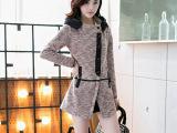 2014秋冬装新款韩版风衣外套女中长款修身棉质外套风衣女款潮