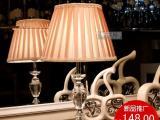 【意千】台灯卧室床头台灯现代简约水晶台灯
