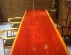 出售各类进口原木实木大板茶桌电脑桌餐桌写字台书桌画案
