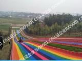 设计专业从事滑草销售设计安装人工滑草七彩彩虹滑道无毒环保
