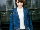 A0347韩版秋季新款翻领宽松大口袋牛仔衣短外套蝙蝠型 女