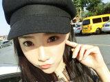 韩国秋冬复古范儿挺括型休闲男女士潮 毛呢报童帽画家帽八角帽子