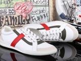 外贸批发时尚原单手工鞋头层真皮男 大牌欧美潮流系带鞋板鞋代理