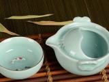古洋茶具 龙泉青瓷快客杯青瓷快客杯旅行茶具 小鲤鱼茶具组