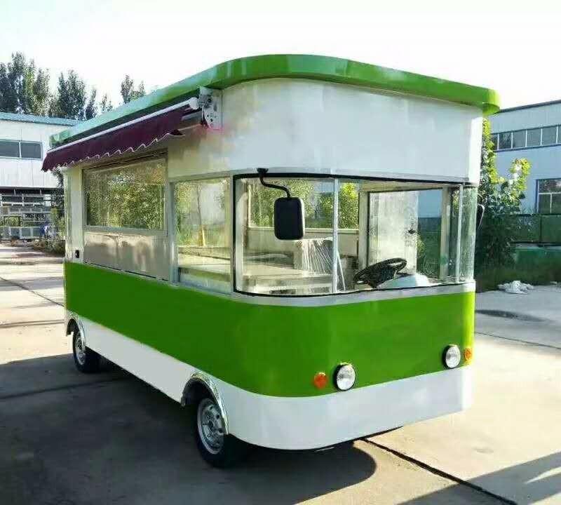 电动快餐车 移动售货车 四轮电动小吃车 麻辣烫小吃车