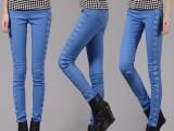 2015年春季新款小脚裤紧身显瘦女蕾丝韩版打底裤