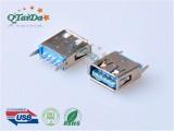 USB 3.0 AF 180D DIP 带卷边H13.7.0
