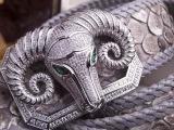 高仿皮带高档奢华动物皇冠镶钻大牌微信一手货源一件代发加盟批发