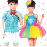 六一儿童演出服亮片纱裙女童舞蹈幼儿蓬蓬裙少儿现代舞表演服装