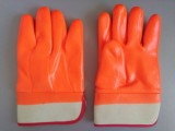 顺兴 pvc防寒手套 荧光光面安全袖口海绵复合布内衬