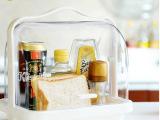 日本进口inomata手提式面包糕点心收纳盒 厨房调味瓶罐整理储