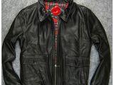 批发美国高档品牌外贸出口原单正品男式时尚休闲牛皮夹克外套