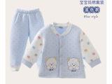 憨豆龙婴儿保暖套装宝宝秋冬装新生儿内衣裤套装