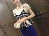 欧洲站2014夏季新款时尚修身印花吊带背心+短裙套装女(优质版)