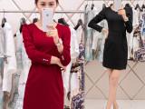 2015秋冬新款季职业大码女装包臀修身长袖打底裙OL韩版连衣裙