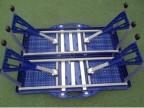 户外ABS连体折叠桌椅套装便携休闲宣传桌手提式折叠野餐桌子