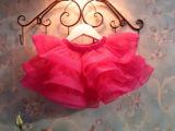 亲亲宝贝童装批发 夏款女童蓬蓬欧根纱短裙 裙子 半身裙 厂家直批