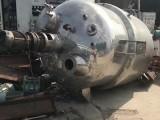 二手不锈钢夹套盘管反应釜/搪瓷蒸汽加热反应釜