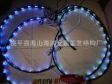 汽车装饰灯 遥控七彩led变色车盘底盘灯 声控 爆闪灯90*12