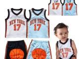 童装批发 NBA球衣男宝无袖套装 林书豪