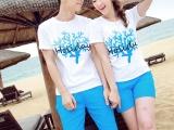 夏季新款情侣装夏装短袖韩版印花情侣T恤衫