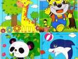 木质早教益智拼图拼版木制9片宝宝婴幼儿童玩具厂家批发01-2-3