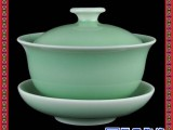 陶瓷盖碗 定做礼品盖碗 红釉陶瓷盖碗