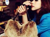 包邮2014韩版新款女包包毛毛仿兔毛包手提斜跨休闲皮草单肩包