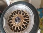 出售2手BBS改装轮毂,带轮胎,4根