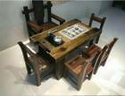 老船木茶桌椅批发实木仿古功夫茶艺桌老船木酒吧台
