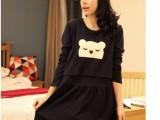 905上衣韩版时尚孕妇外出喂奶衣 哺乳装睡衣 连衣裙子